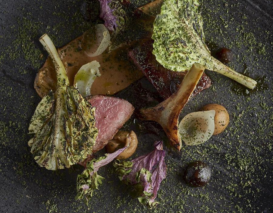 Adam Handling dish - Beef, pumpkin, treacle, carrots
