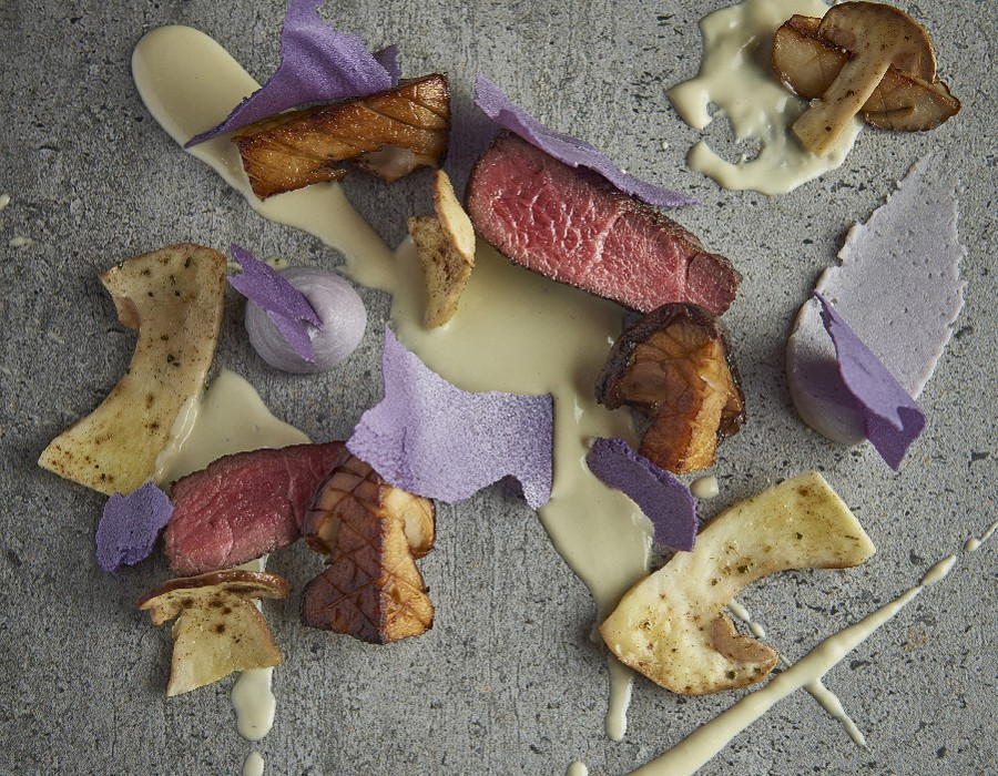 Adam Handling dish - Pork, mushrooms, garlic